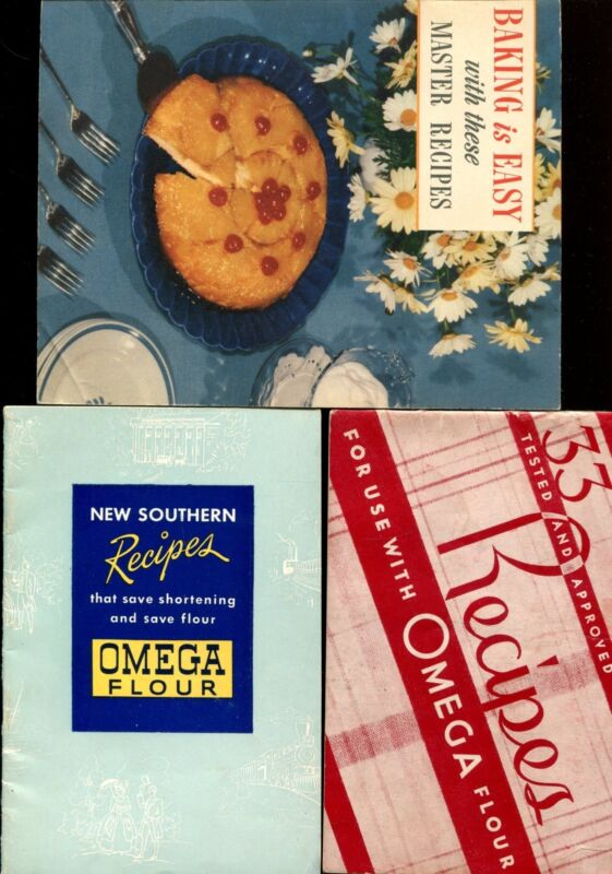 OMEGA FLOUR VINTAGE RECIPE BOOKS - THREE BOOKLETS