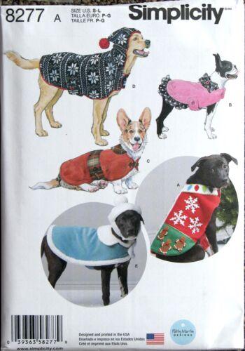 8277 A - Simplicity Craft Sewing Pattern - Dog Coats & Hats