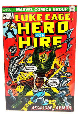 6 Luke Cage  Hero For Hire 1970S Marvel Comic Book   Fine  Lc 06