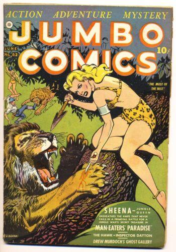 JUMBO COMICS #52 VG, Nick Cardy cover, Fiction House 1943