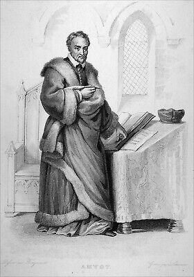 MELUN - JACQUES AMYOT, évêque d'Auxerre, traducteur de Plutarque - Gravure 19e
