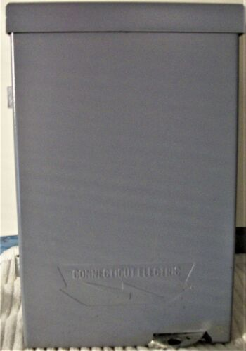 CONNECTICUT ELEC. 30A 240V AC Fusible Air Conditioner Disconnect Switch Box 1