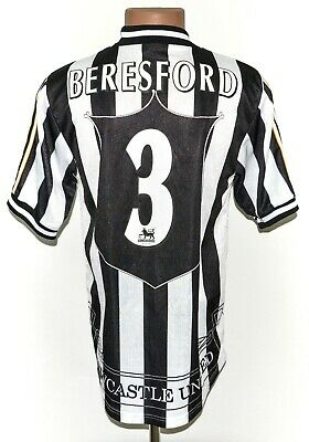 NEWCASTLE UNITED 1997/1999 HOME FOOTBALL SHIRT JERSEY ADIDAS SIZE S #3 BERSEFORD image