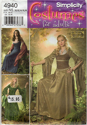 Simplicity Costume Patterns for Adults Sewing #4940