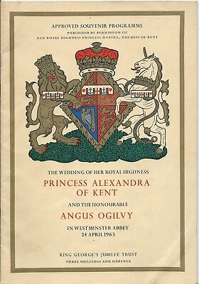 ROYALTY, SOUVENIR PROGRAMME FOR WEDDING OF H.R.H  PRINCESS ALEXANDRA, 1963