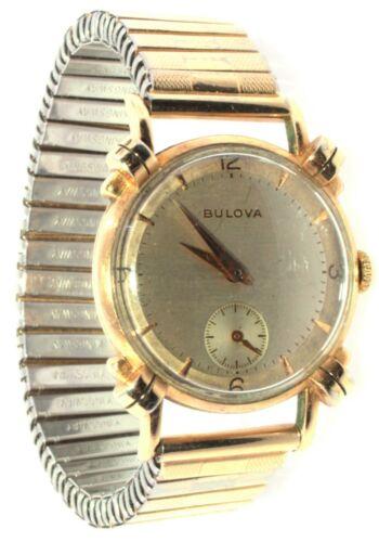 Working Bulova Wrist Watch 10K Rolled Gold Plated 17 Jewels