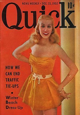 Quick News Weekly Magazine 1952 December 15 News Entertainment Photos