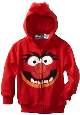 Muppets Animal Hoodie (Disney The Muppets ANIMAL Zip Up Hoodie Size 6 7 New Childs)