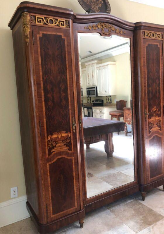 Antique Inlaid Mahogany Cabinet