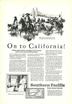Southern Pacific 5 Print Ads The Atlantic National Geographic 1915-1938