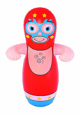 BESTWAY INFLATABLE BLOW UP 3D BOP PUNCH PUNCHING BOXING BAG KIDS TOY GAME - Blow Up Boxing