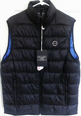 Abercrombie & Fitch Men's Light Weight Puffer Packable Vest Black New with Tag M