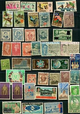 South East Asia Stamps, 190 Different, Used
