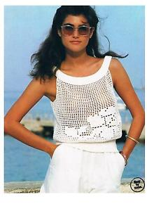 Vintage Crochet/Knitting Pattern-Ladies Cotton Summer Top/Camisole-PATTERN ONLY