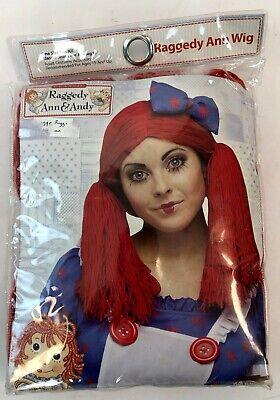 Halloween Costume Brand Names (NEW Simon & Schuster Name Brand Raggedy Ann Pigtail Halloween Costume Adult)