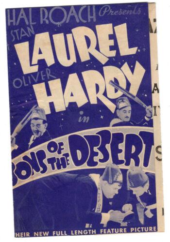 SONS OF THE DESERT - Vintage 1933 Film STAN LAUREL & OLIVER HARDY Movie Herald