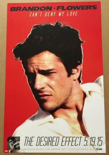 The Killers BRANDON FLOWERS Rare PROMO POSTER w/ DATE for 2015 CD NEVER DISPLAYD