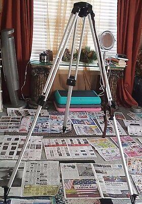 Hixon Tripod Alum Adj 58 X 5 Heavy Duty Cst With Bag Actual Pictures In Ad