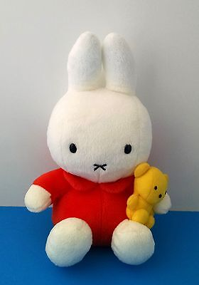 Miffy Bunny Rabbit w/Teddy Bear Dick Bruna Yellow 10 Plush Doll A-Plus Creation