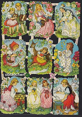 # GLANZBILDER # EF 7142 ,9 tolle Märchenbilder, 50er Jahre (EAS), neues Logo