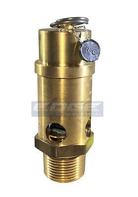 135 Psi Brass Safety Relief Pop Off Pressure Valve Compressor Tank 1 Npt