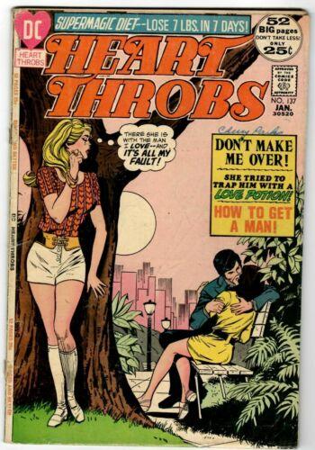 HEART THROBS NO.137 DC Romance Comic 52 pgs 1972 in 4.0 VG  Scarce! HTF
