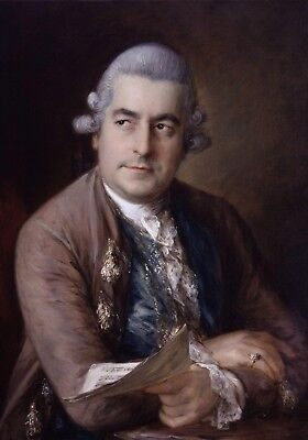 Christian Music Posters - A Portrait of Johann Christian Bach. Classical Music Poster