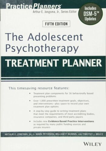 Adolescent Psychotherapy Treatment Planner_1 Minute Delivery_PDF[E-B 00K]