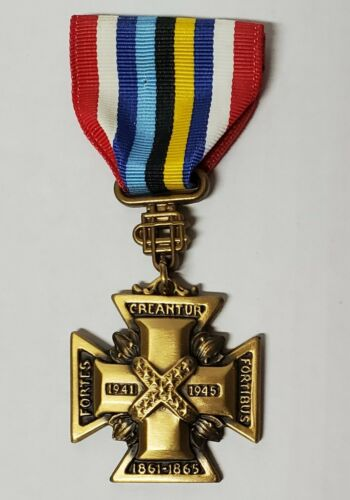 RARE WWII UDC Cross of Military Service Medal Southern Cross of Honor Numbered