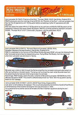 - Kits World Decals 1/144 AVRO LANCASTER B.I Mk.X & B.VII British Heavy Bomber
