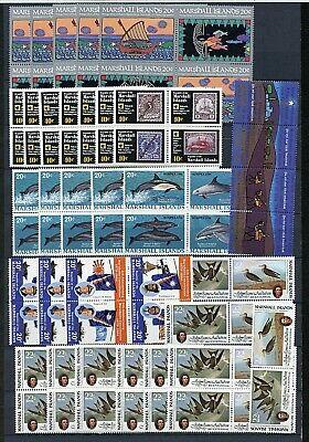 Marshall Islands #34a//411 (MA670) with Duplicates, Hi Face Value, MNH, CV$127.10