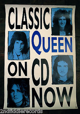 QUEEN-Rare 1991 Promotional Only Poster-FREDDIE MERCURY-BRIAN MAY-ROGER TAYLOR