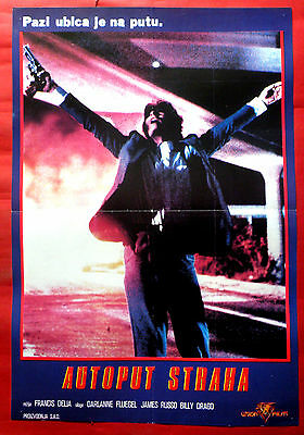 FREEWAY 1988 JAMES RUSSO DARLANE FLUEGEL BILLY DRAGO RARE EXYU MOVIE POSTER