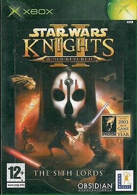 Star Wars Knights of the Old Republic II The Sith Lords Microsoft Xbox RPG Game