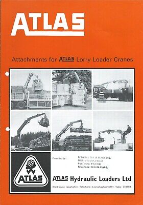 Equipment Brochure - Atlas - Attachments for Lorry Truck Loader Cranes (E5131), used for sale  Sointula