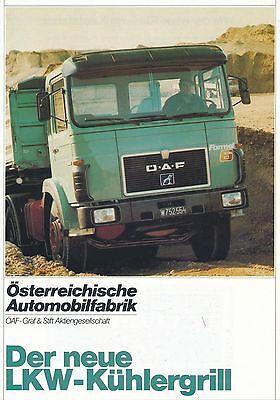 ÖAF Österreichische Automobilfabrik Gräf & Stift LKW Kühlergrill Logo MAN
