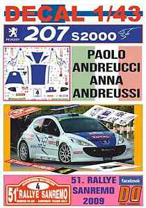 DECAL-1-43-PEUGEOT-207-S2000-PAOLO-ANDREUCCI-RALLYE-SANREMO-2009-5th-04