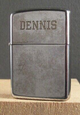 ZIPPO LIGHTER 1968 Flat Bottom DENNIS Zippo Insert ~ Old Relic Cigarette Lighter