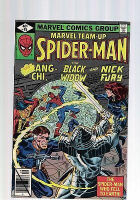 Marvel Team up Spider man Black widow Nick Fury  No 85 Sept 1979 40c USA