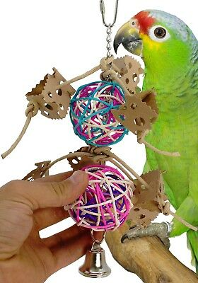 1671 VINE PETALS BIRD TOY parrot cage toys cages african grey amazon conure