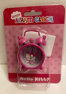 Hello Kitty Twin Bells petite hot pink Alarm Clock Battery Powered