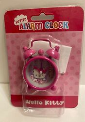 Hello Kitty Twin Bells petite hot pink Alarm Clock Battery Powered