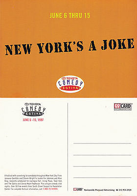 1997 TOYOTA COMEDY FESTIVAL NEW YORK ADVERTISING UNUSED COLOUR POSTCARD