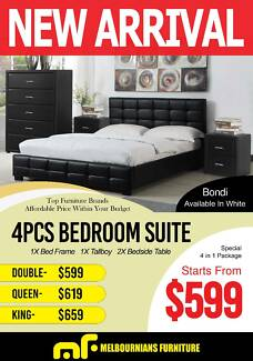 bondi 4pce bed suite - Furniture Bondi