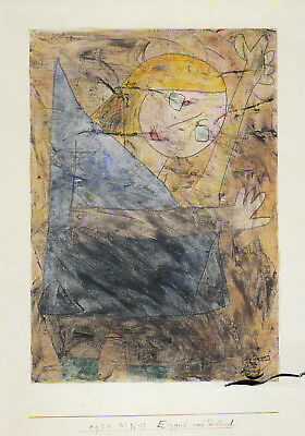 Postkarte / Postcard Art - Paul Klee - Engel, noch tastend