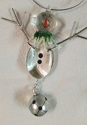 Soccer Snowman with Soccer Ball Holiday Ornament (Soccer Snowman)