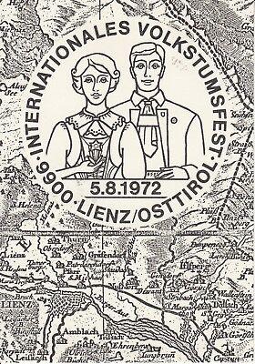 Postkarte - Lienz / Internationales Volkstumsfest 1972