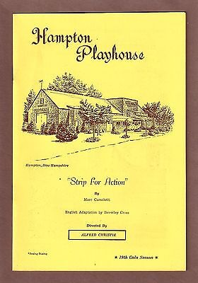 """Blythe Danner """"STRIP FOR ACTION"""" (""""Boeing Boeing"""") Marie Wallace 1967 Playbill"""