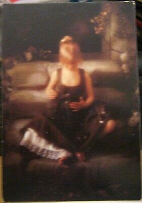 Postcard Art Girl with Kittens Francois Gillet - unposted