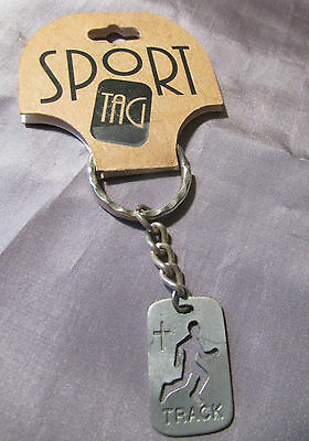 ROMAN SPORTS TAG TRACK  KEY CHAIN ON TAG 1998